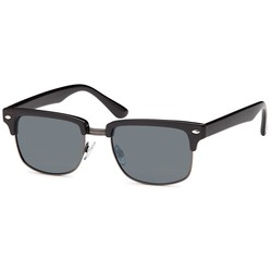 Matzwarte clubmaster zonnebril