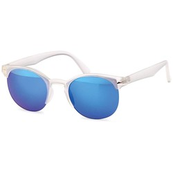 Clubmaster transparant blauw