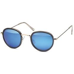 Ronde fashion zonnebril blauw