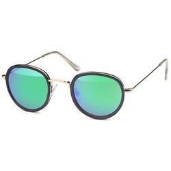 Ronde fashion zonnebril groen