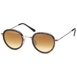 Ronde fashion zonnebril leopard