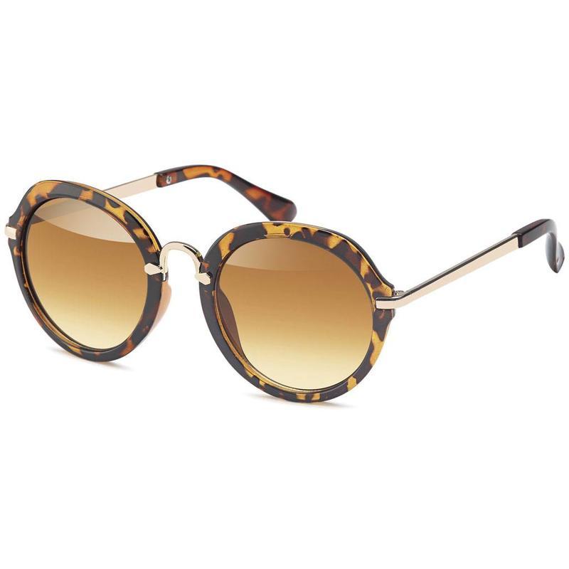 Ronde dames zonnebril leopard
