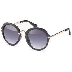Ronde dames zonnebril zwart