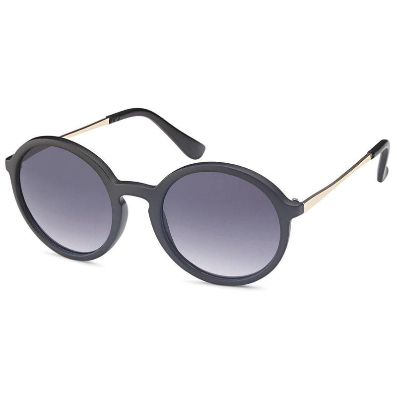 Matzwarte ronde zonnebril