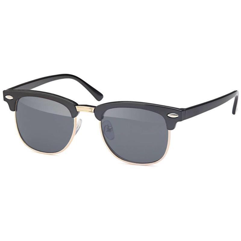 Zwarte kinder clubmaster zonnebril