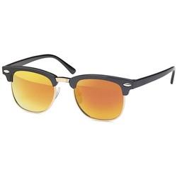 Oranje kinder clubmaster zonnebril