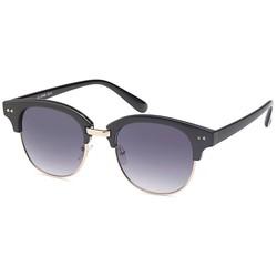 Luxe zwarte clubmaster zonnebril