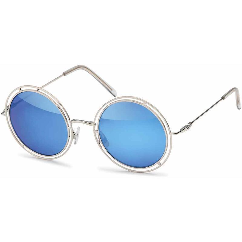 Ronde Blauwe Hipster Zonnebril