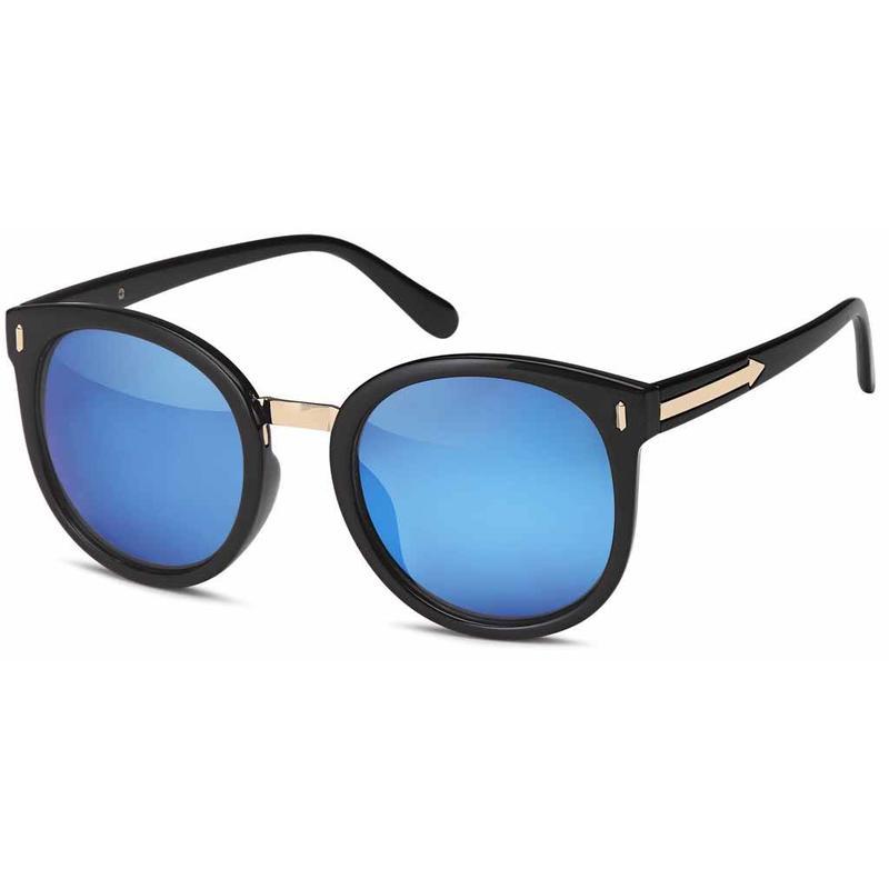 Hippe Blauwe Spiegelglazen Zonnebril