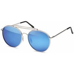 Moderne Blauwe Piloten Zonnebril