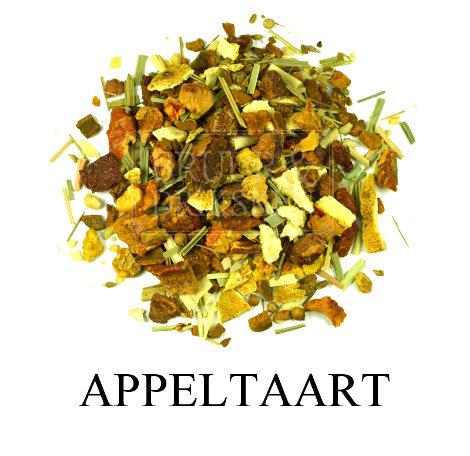 Appeltaart. Vers gezet. Geurige thee melange op basis van kruiden en fruit