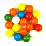Bruur kauwgomballen (S)