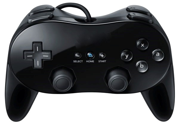 Classic Controller Pro Zwart voor Nintendo Wii