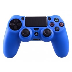 Geeek Silikonschutzhülle für PS4 KontrollerCover Skin – Blau