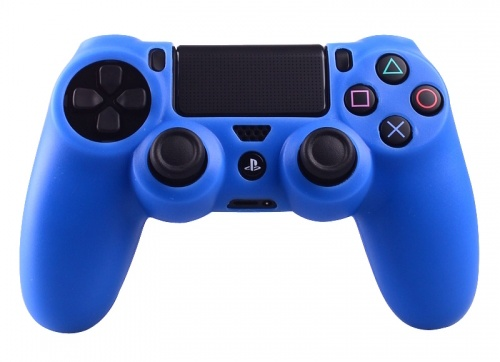 Geeek ps4 controller silicone protective skin cover blue for Housse manette ps4