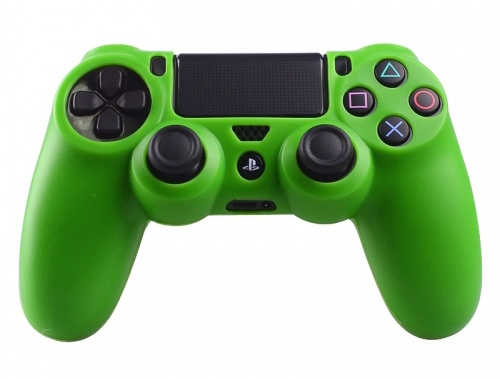PS4 Controller Silicone Beschermhoes Cover Skin Groen