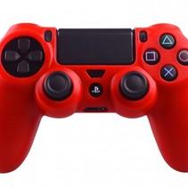 Silikonschutzhülle für PS4 Kontroller Cover Skin – Rot