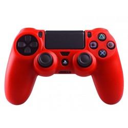 Geeek Silikonschutzhülle für PS4 Kontroller Cover Skin – Rot