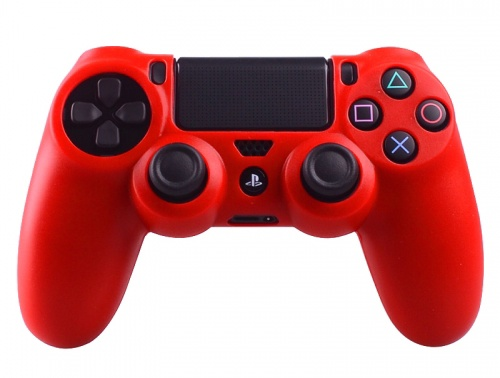 PS4 Controller Silicone Beschermhoes Cover Skin Rood
