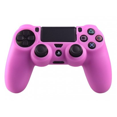 Geeek PS4 Controller Silikonschutzhülle Cover Skin Rosa