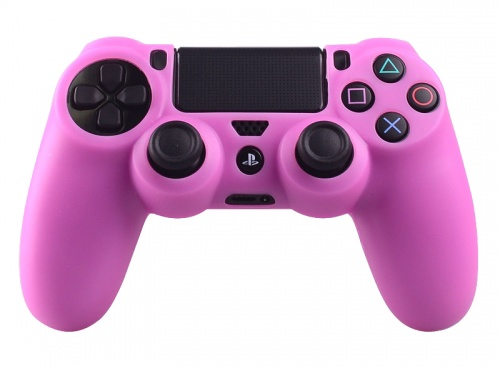 PS4 Controller Silicone Beschermhoes Cover Skin Roze