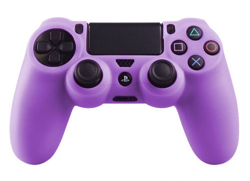 PS4 Controller Silicone Beschermhoes Cover Skin Paars