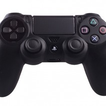 Silikonschutzhülle für PS4 Kontroller Cover Skin - Schwarz