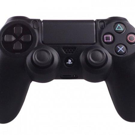 Geeek Silicone Beschermhoes voor PS4 ControllerCover Skin Zwart