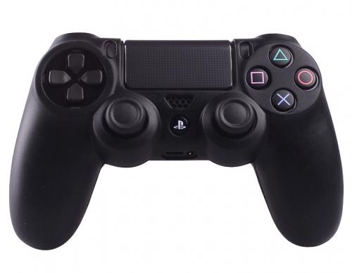 Silicone Beschermhoes voor PS4 ControllerCover Skin Zwart