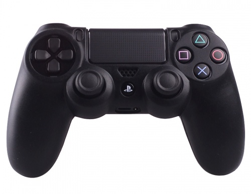 PS4 Controller Silicone Beschermhoes Cover Skin Zwart