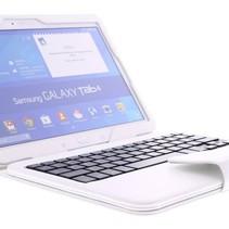 Bluetooth Tastatur / Case / Samsung für Galaxy Tab 4 - 10.1 Zoll –  Weiß