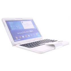 Geeek Bluetooth Keyboard Case Cover Samsung Galaxy Tab 10.1 4 White