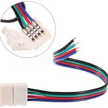 LED-Strip Anschlusskabel RGB-Farbe 5 Stück