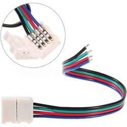 Geeek LED-Strip Anschlusskabel RGB-Farbe 5 Stück