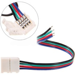 Geeek Led Strip Connector Kabel RGB Kleur 5 Stuks
