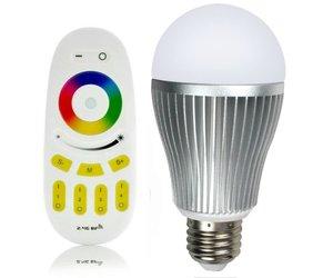 Lampen Op Afstandsbediening : Rgbw 9w led lamp met afstandsbediening online shop geeektech.com
