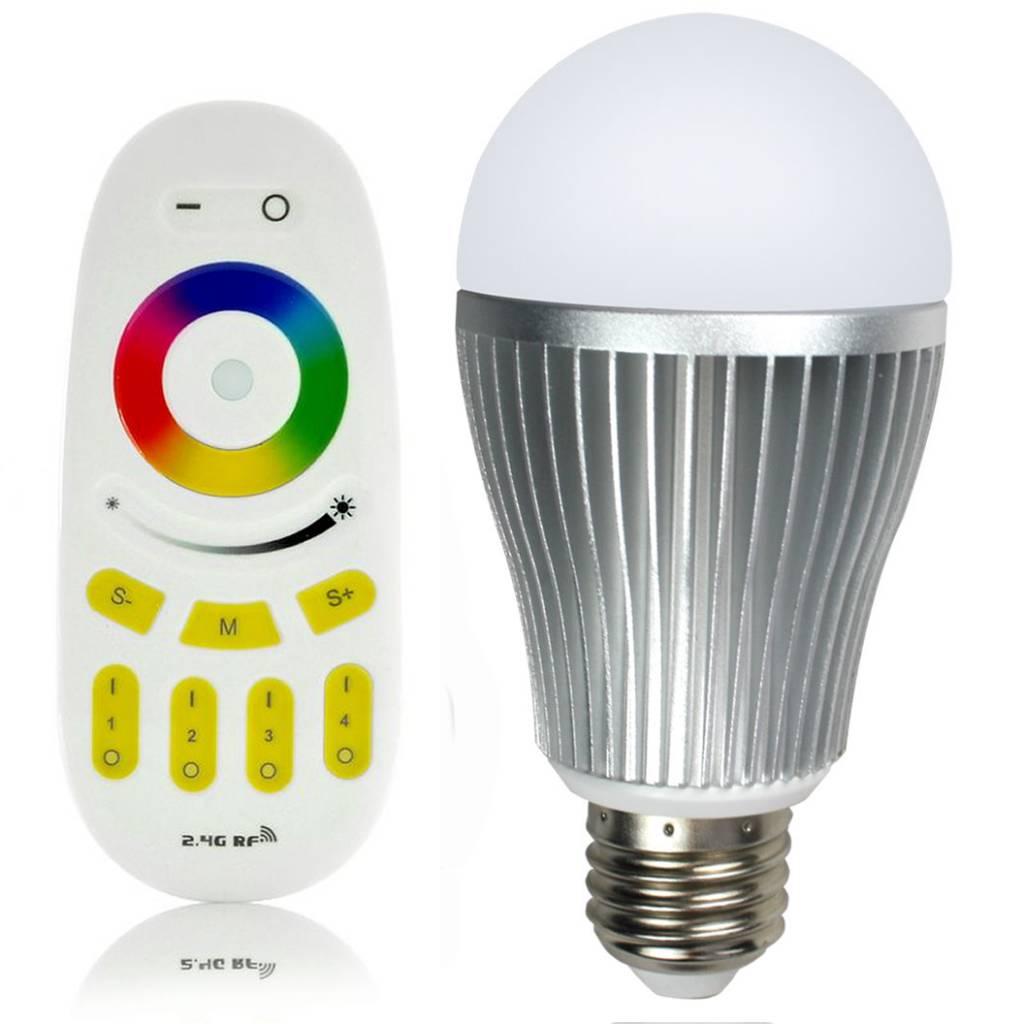 rgbw 9w led lamp met afstandsbediening online shop. Black Bedroom Furniture Sets. Home Design Ideas
