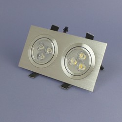 Geeek Dubbele LED Inbouwspot 3 Watt Warm Wit Dimbaar