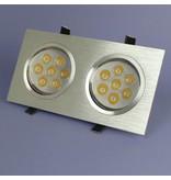 Geeek Dimmbare Dual-LED Einbau 7 Watt – Warmweiß