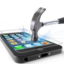 Sterke Tempered Glass Screenprotector iPhone 5S