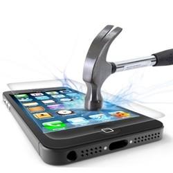 Geeek Schutzfolie aus gehärtetem 0,3 mm Panzerglas für iPhone 5S