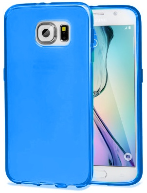 TPU Hoesje Samsung Galaxy S6 Transparant Blauw
