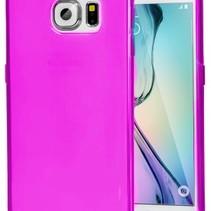 Stabile Smartphone-Hülle für Samsung Galaxy S6 Edge - Transparent Pink
