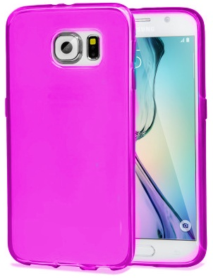 TPU Hoesje Samsung Galaxy S6 Edge Transparant Roze