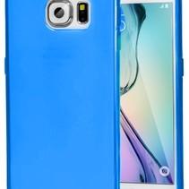 TPU Hoesje Samsung Galaxy S6 Edge Transparant Blauw