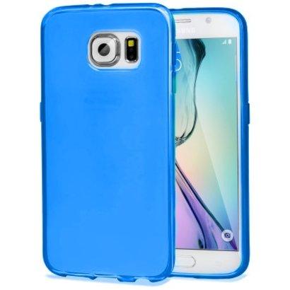 Geeek Stabile Smartphone-Hülle für Samsung Galaxy S6 Edge - Transparent Blau