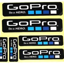 Be a Hero Stickers 6 pack voor GoPro