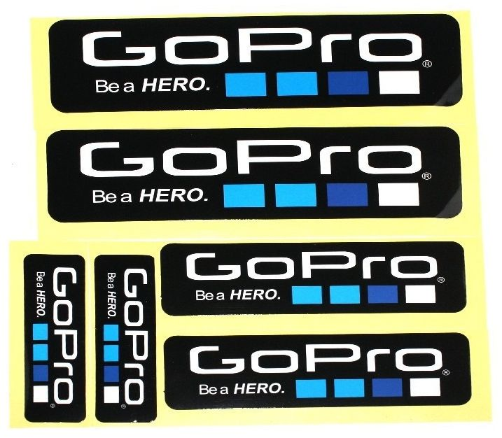 GoPro Be a Hero Stickers 6 pack