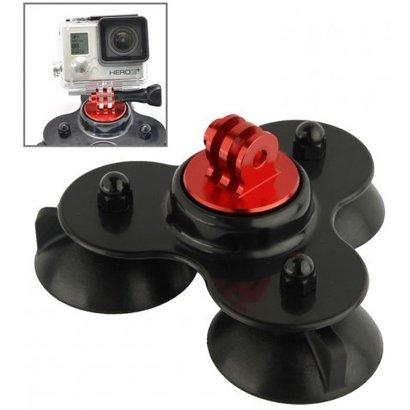 Geeek 3-Punkt-Befestigung mit Saugnäpfen fur GoPro