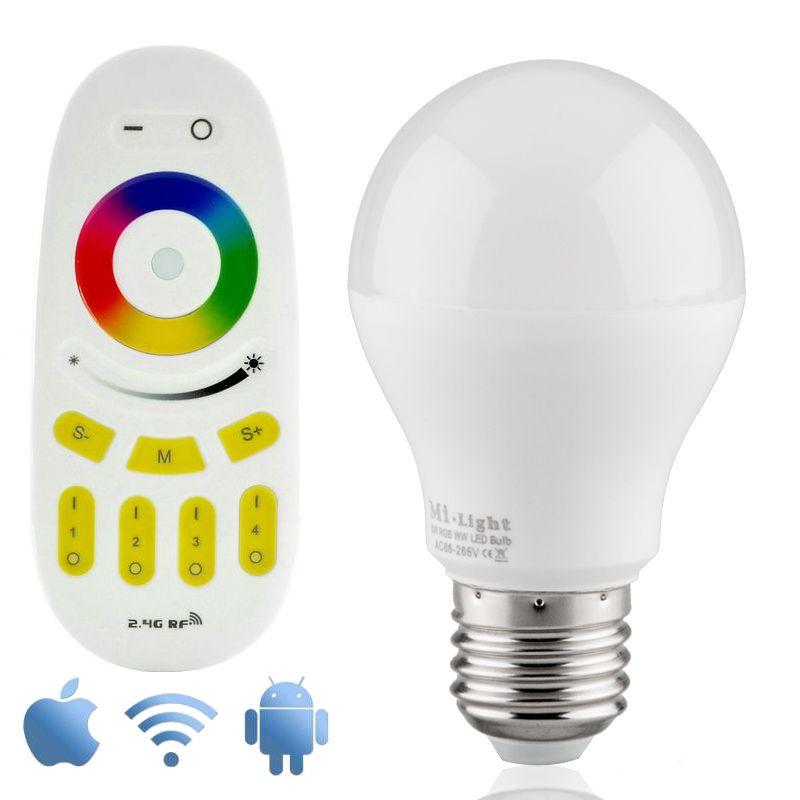 wifi rgbw 6w led lamp met app en afstandsbediening online shop geeektech. Black Bedroom Furniture Sets. Home Design Ideas